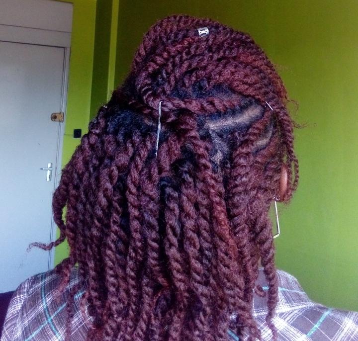 Creme of Nature Burgundy dye on type 4 natural hair