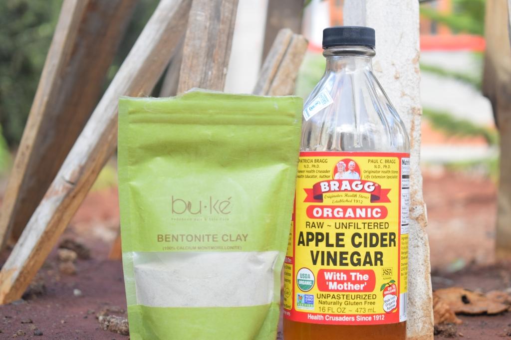 Braggs ACV and BU.KE bentonite clay for bentonite clay mask hair recipe