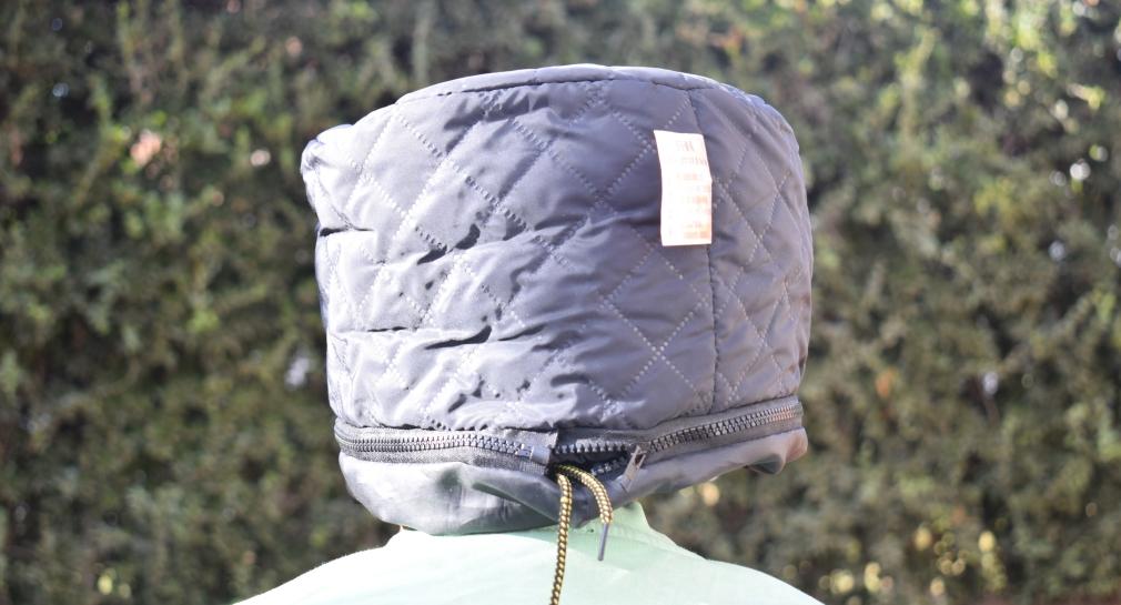 Electrical Hooded Heat Cap Black