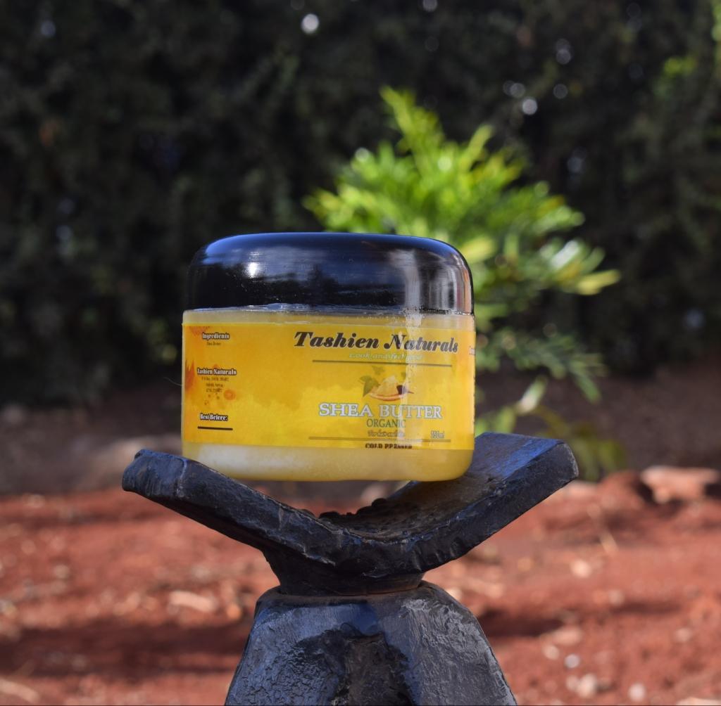 Tashien Naturals Organic Shea Butter for Sealing Moisture
