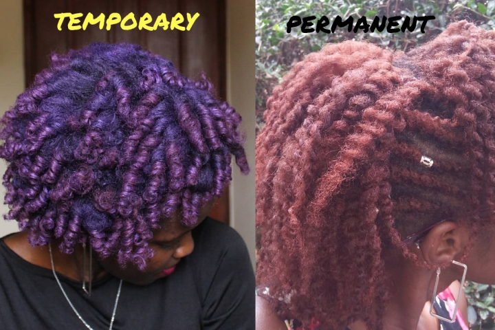 A Brief Guide To Natural Hair Dye: Temporary Vs Permanent Hair Color on Natural Hair